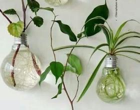 爆款创意灯泡花瓶