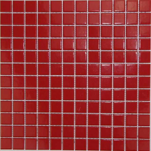 红色马赛克瓷砖群舜建材泳池砖厂家
