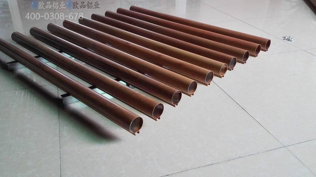 鋁圓管裝飾木紋鋁圓管吊頂廠家定制