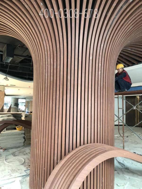 弧形包柱鋁方通 造型鋁方通吊頂廠家定制