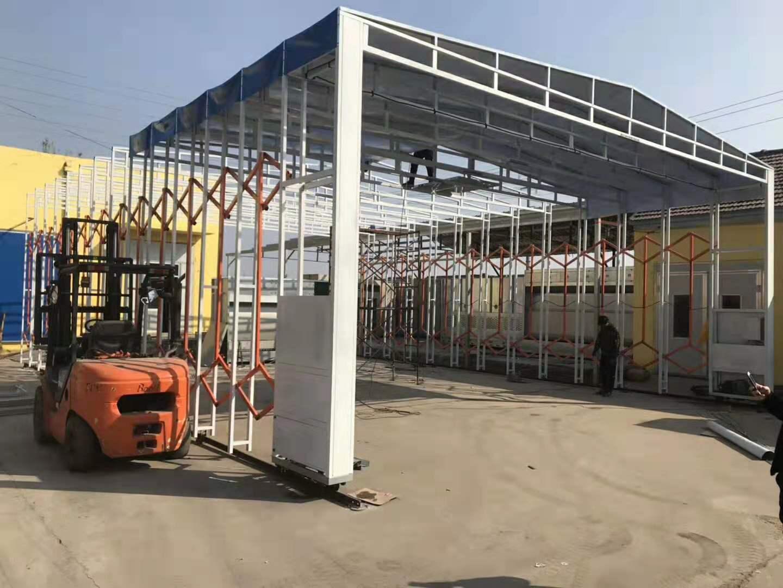 安徽供应环保移动伸缩房设备粉末回收机设备