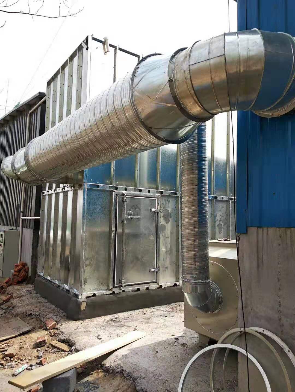 黑龙江环保中央除尘设备移动伸缩房活性碳箱