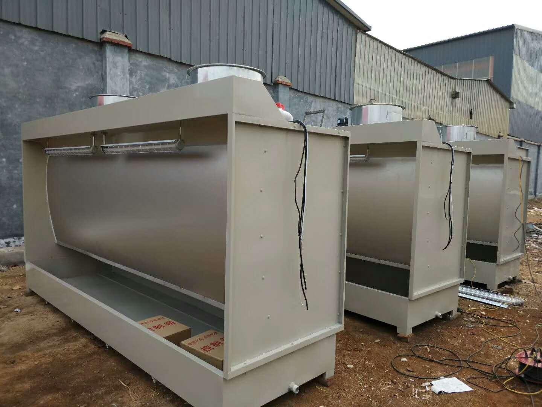 济南环保水帘柜设备移动伸缩房干式喷涂柜