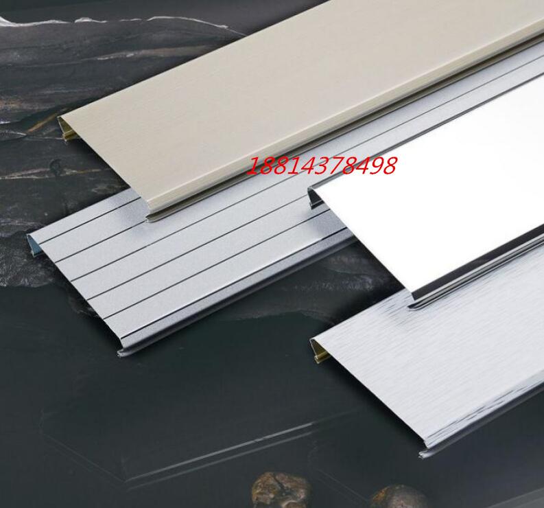 新型建筑材料金属吊顶铝条扣R型85宽扣